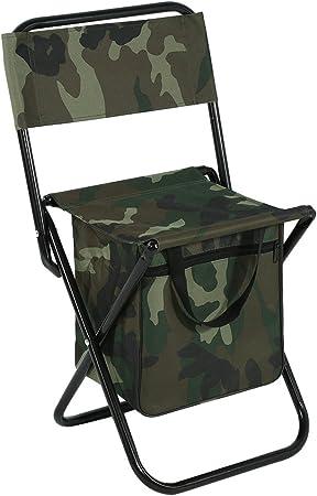 Chaises de pêche pliantes avec dossier et sac isotherme, siège de sac à dos portatif pour le camping en plein air, siège de transport, tabouret de