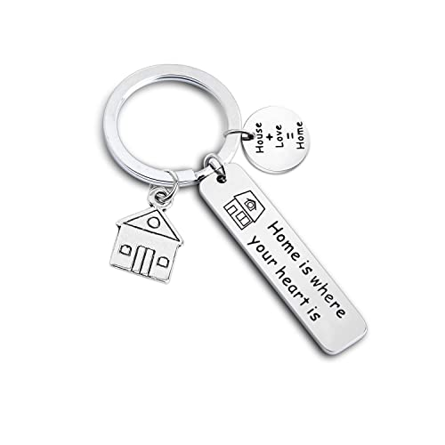 Amazon.com  Gzrlyf Home Keychain New House keyring Homeowner Gift Home Is  Where Your Heart Is Keychain New House Gift New Home Gift Housewarming Gift  (home ... b9a0a0fccc30