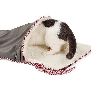 TODAYTOP - Saco de Dormir para Gatos (Papel de Sonido, túnel ...