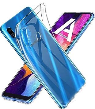 AINOYA Funda Carcasa para Samsung Galaxy A20, [Elegante] [Transparente] [Absorcion de Choque] [Anti-Arañazos] Gel Suave TPU Case Cover para Samsung ...