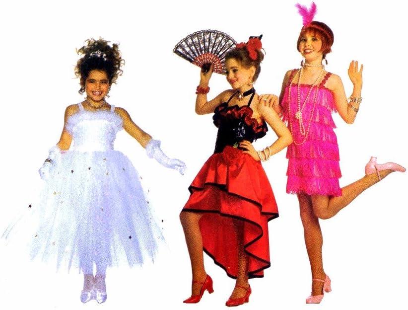 Girls Flamenco Costume Red /& Black Polka Dot Fancy Dress Spanish Outfit Age 3-12