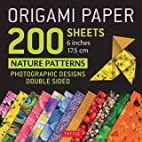 "Origami Paper 200 sheets Nature Patterns 6"" (15 cm): Tuttle Origami Paper: High-Quality Origami Sheets Printed with 12 Different Designs: Instructions for 8 Projects Included"