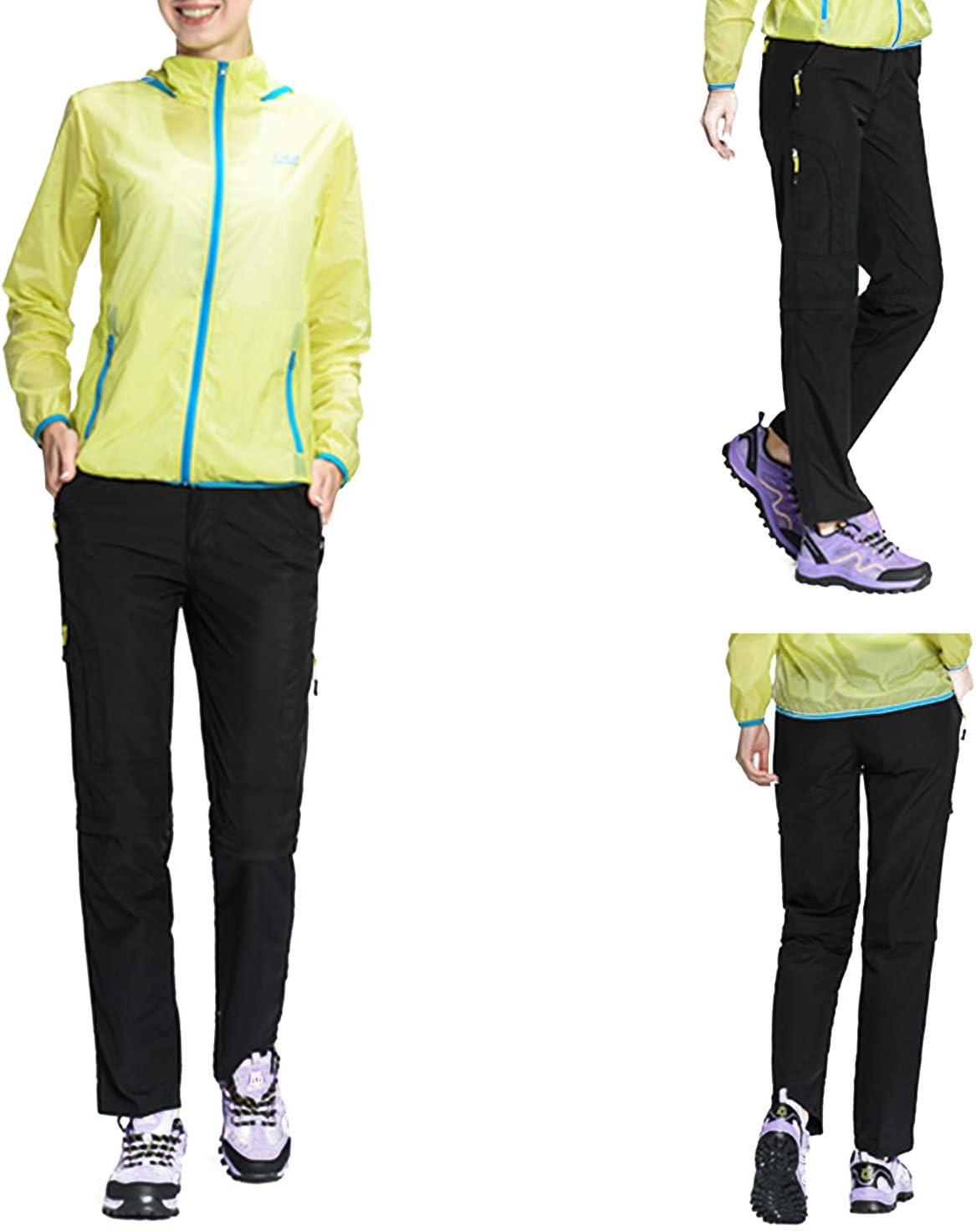Pantalones Nauwet Pantalones De Senderismo Convertibles De Secado Rapido Para Mujer Deportes Y Aire Libre Brandknewmag Com