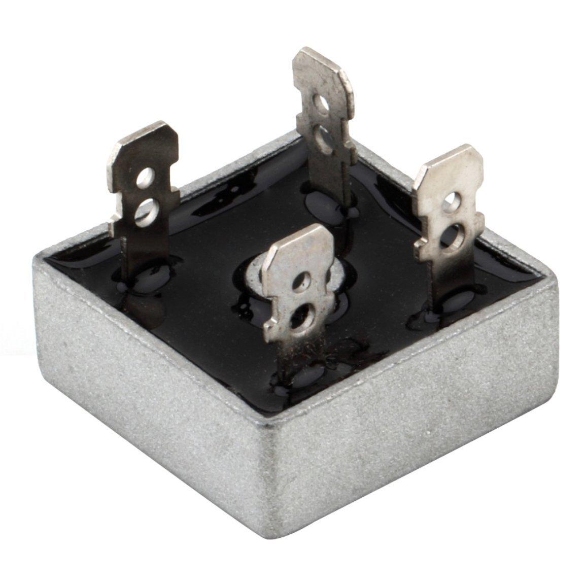 Caja metá lica KBPC5010 1.000 voltios puente rectificador de 50 amperios 50A para la disipació n de calor 1000V forma cuadrada fases individuales puente de diodos Fantasyworld