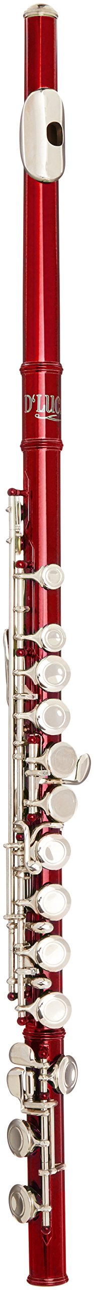 D'Luca 400RD 400 Series 16 Closed Hole C Flute with Offset G and Split E Mechanism, Case, Cleaning Kit, Red by D'Luca
