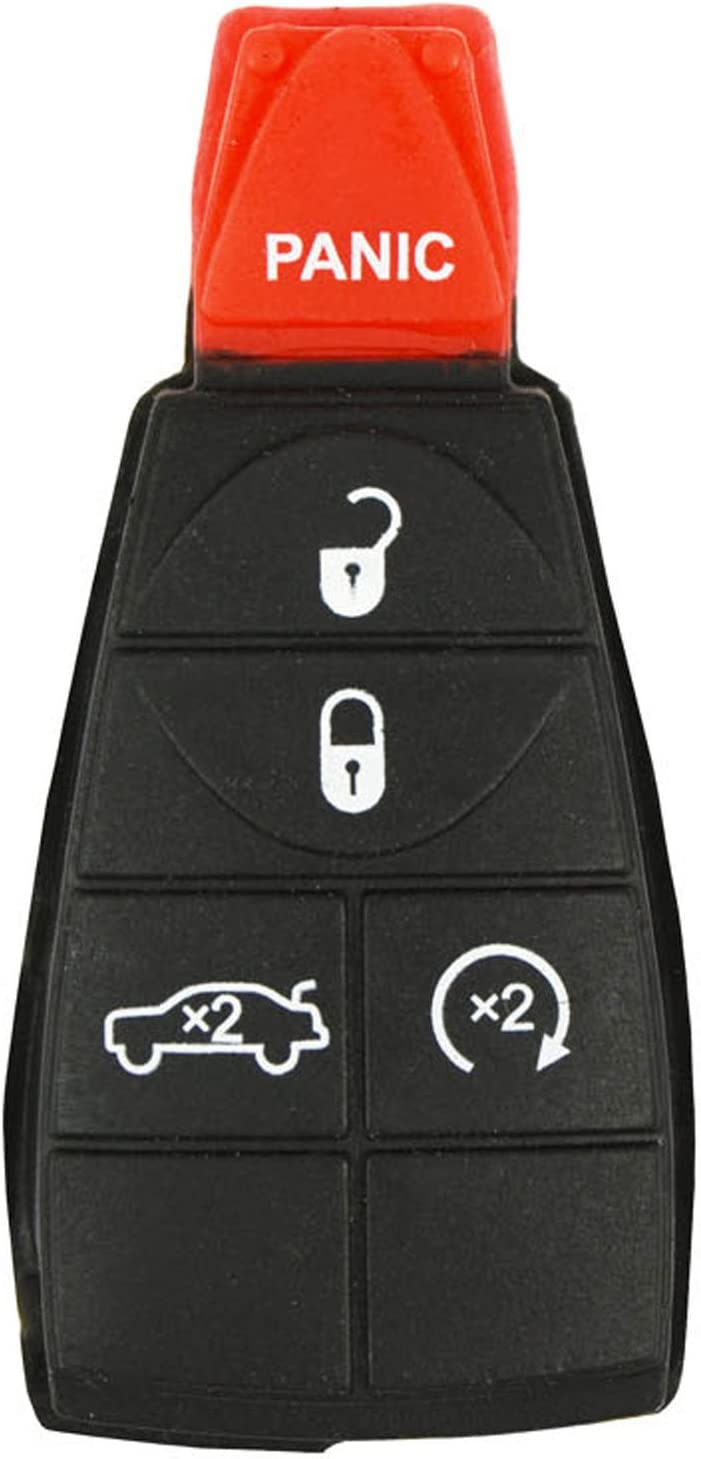 qualitykeylessplus Two Remote Fobik Emergency Key Blade Insert Replacements for Chrysler Dodge Jeep with Free KEYTAG