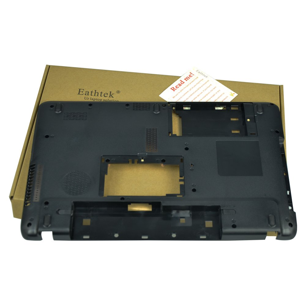 Eathtek Replacement Bottom Case Base Cover For Toshiba Satellite C650 C650D C655 C655D 15.6'' V000221090 V000220790 (Check the PN carefully before bidding,there is no USB port on the right side)