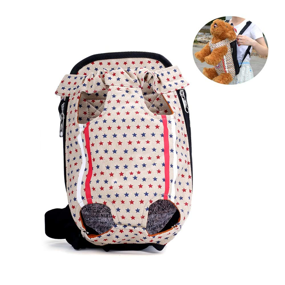 Large Pet Carrier Backpack for Small Dog and Cat, Tail Out Front Chest Carrier Bag for Travel Outdoor Walking Hiking Cycling Camping (Size   L)