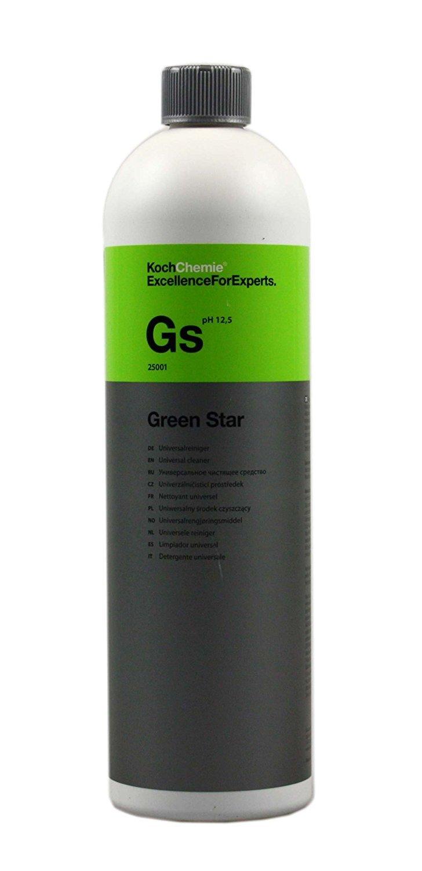 1 Liter Koch Chemie Green Star Reinigungsmittel Universal für Hochdruckreiniger Parkside LIDL Zufuhr über Reinigungsmittelbehälter oder Schaumlanze von KOCH CHEMIE Made in Germany Universalreiniger Green Star