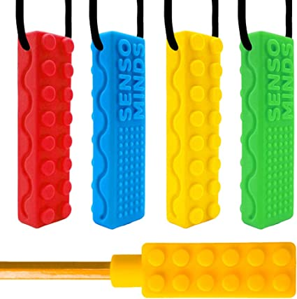 Brick Autism chewy chewie necklace sensory asd adhd silicone chew YP
