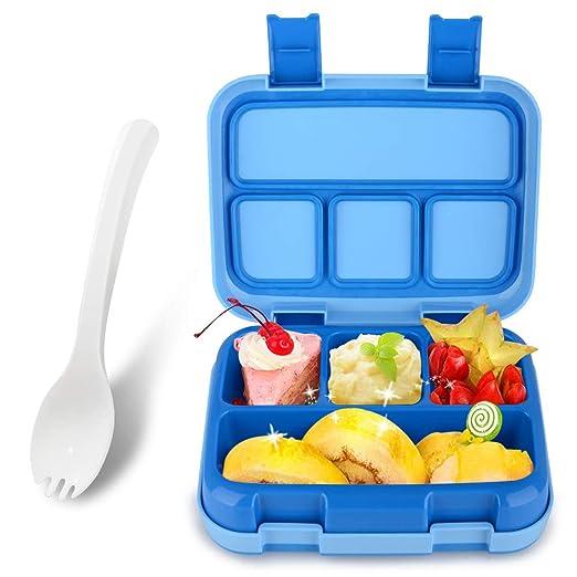 KidsHobby Fiambrera Niños Fiambrera Infantil con 4 Compartimentos ...