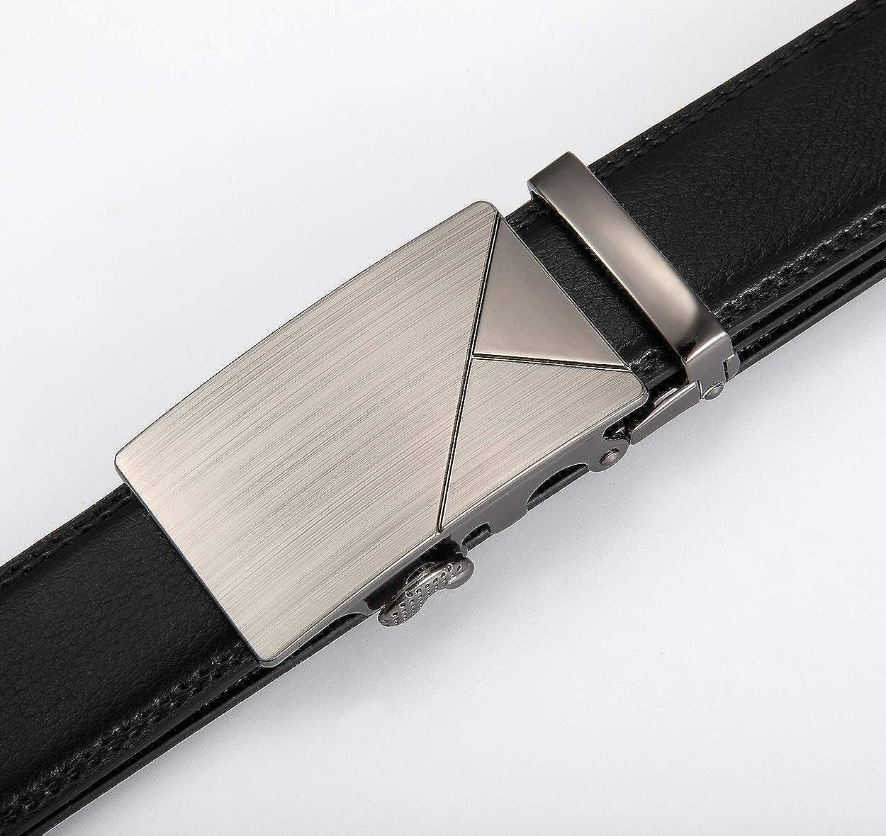 MRACSIY Hombre Pin Hebilla Cintur/ón de Cuero Genuino