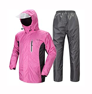 Wind und Wasserdicht mit Bauchtasche 3M Refelktoren und seitlichen Eingriffen Farbe Pink Gr/ö/ße S normani Unisex Regenponcho