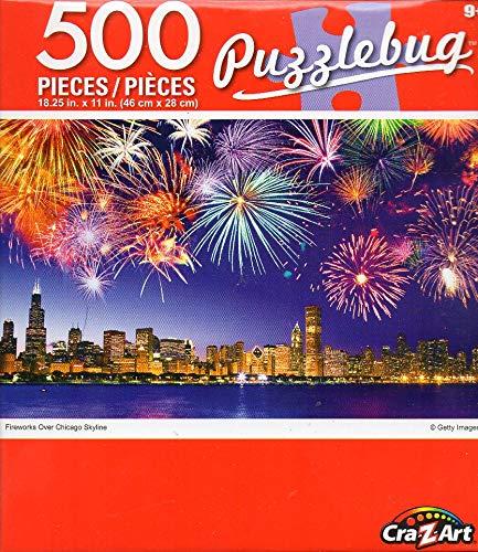 【福袋セール】 Cra-Z-Art B07PTX24J8 Cra-Z-Art ジグソーパズル シカゴのスカイラインの上に花火 500ピース 500ピース B07PTX24J8, バワーズコーポレーション:cffcb54b --- a0267596.xsph.ru