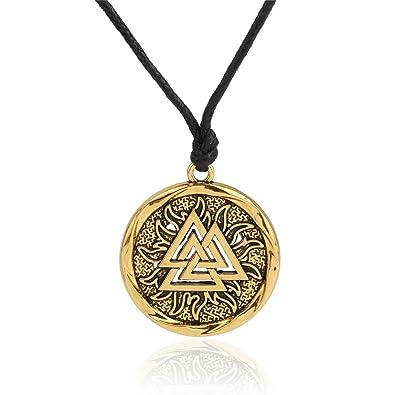 367ebf6f7ece1 My Shape Valknut Viking Pendentif Collier Symbole scandinave Nordique  Guerrier Viking Bijoux