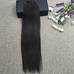 "Full Shine 12"" 7 Piece Double Weft Remy Hair Extensions Clip In Human Hair Extensions 100gram Natural Hair Extensions Clip in Human Hair Silky Straight Black Clip In Hair Extensions"