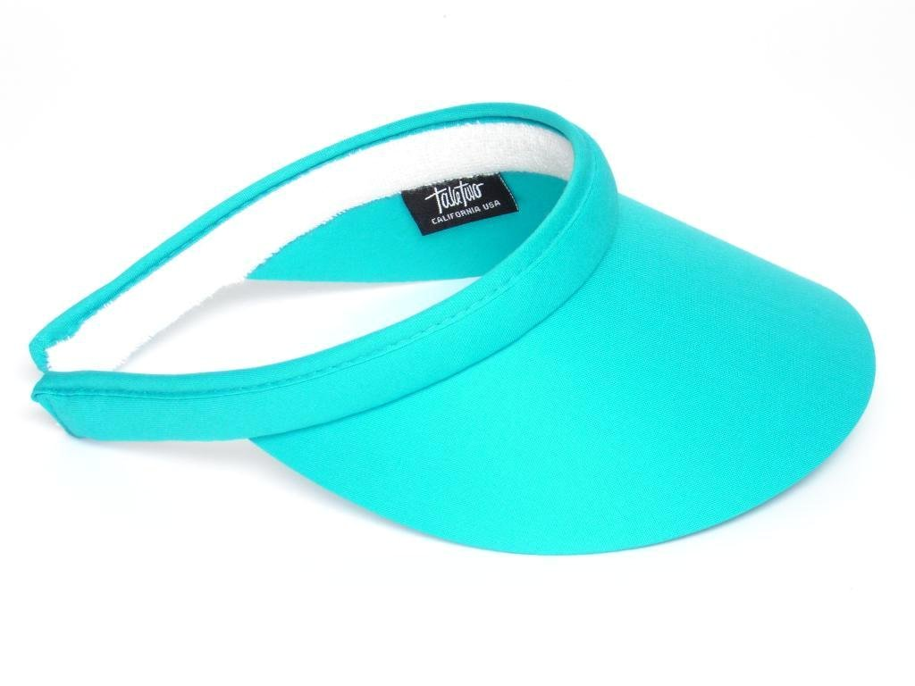 Take Two Women's Clip On Brim Visor One Size turquoise