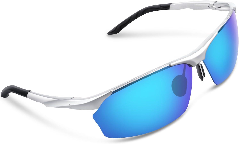 Gafas de sol deportivas Torege, polarizadas, para hombres y mujeres; para ciclismo, correr, pescar, jugar al golf; TR90, montura irrompible, M292, metal, M292, Silver&Blue lens: Amazon.es: Deportes y aire libre