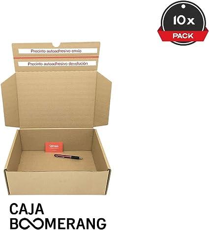 Pack de 10 Cajas de Cartón para Envíos (Caja Doble Envío) de 25 x ...