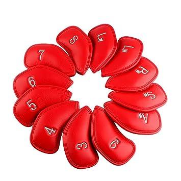 tourgolf 12 piezas rojo grueso cuero sintético juego de ...