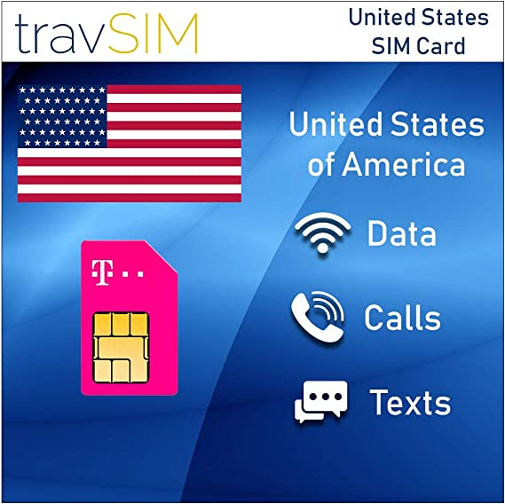 Amazon Com Travsim T Mobile Prepaid Usa Sim Card 50gb Mobile
