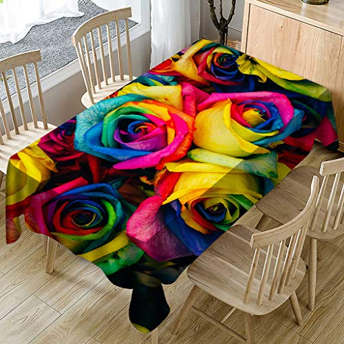 - Beyonds Rectangle Tablecloth, Polyester Fiber Dustproof Fade/Wrinkle-Resistant Table Cloth, for Kitchen Dinning Tabletop Buffet Decoration