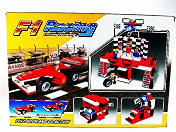 LEGO Compatible F1 Racing Car and Pit Stop Garage LIGAO: Amazon co