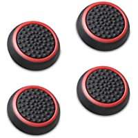 Fosmon Silicone Thumb Stick Analog Controller Grip Caps (4 Pack/2 Pairs) for Xbox 360, PS4, PS3, Wii U/Wii Nunchuk…