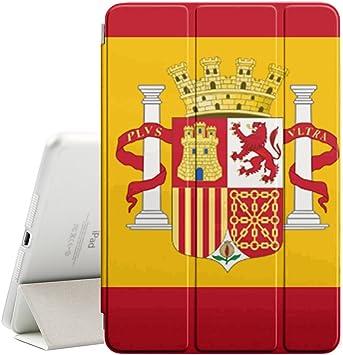 Graphic4You España bandera española Funda Carcasa con Stand Función y Imán Incorporado para el Sueño/Estela para Apple iPad Pro (12.9