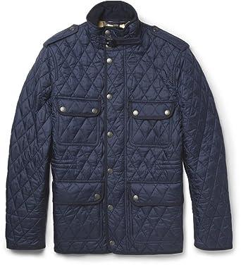 Burberry Brit Men's RUSSEL Diamond Quilted Field Jacket in Navy at ... : burberry brit jacket quilted - Adamdwight.com