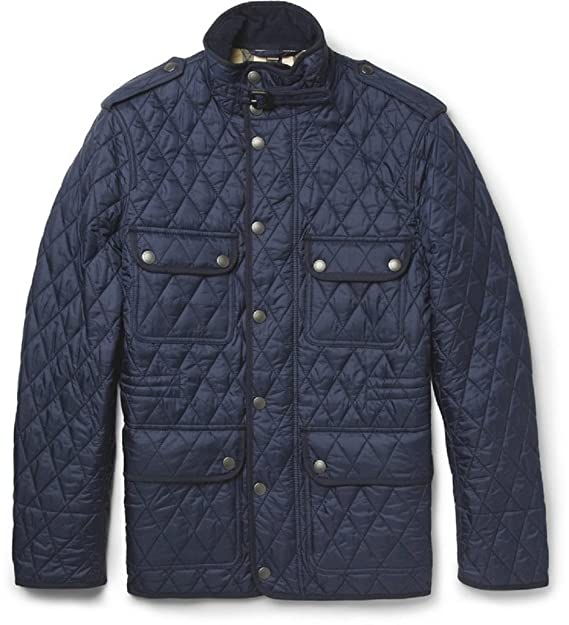 a0f0edac04f Burberry Brit Men's RUSSEL Diamond Quilted Field Jacket in Navy (XX-Large)