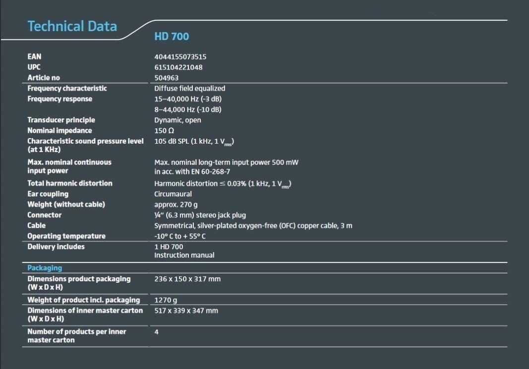 Sennheiser HD 700 dynamischer Stereokopfhörer: Amazon.de: Elektronik