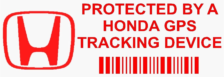 Pegatina de advertencia de dispositivo de seguimiento, para coche, 87 mm x 30 mm, 5 unidades, texto en inglés