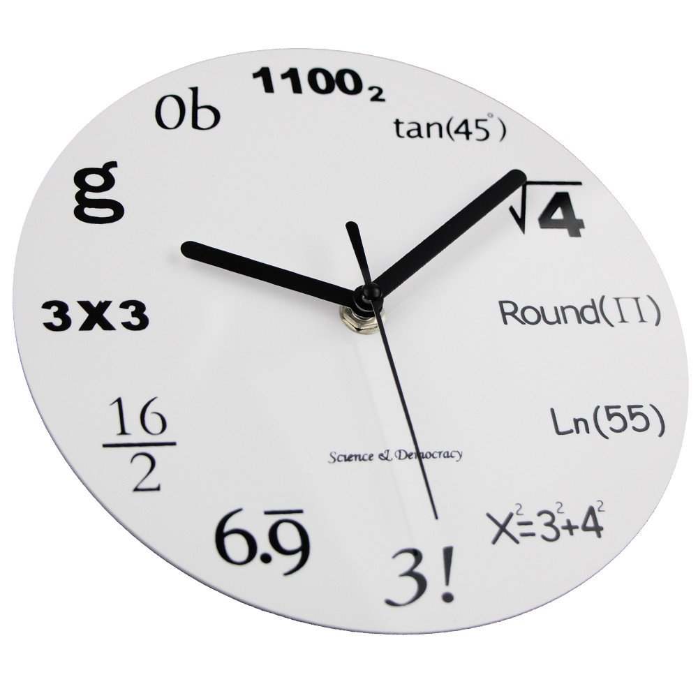 Amazon math clock timelike unique wall clock modern design amazon math clock timelike unique wall clock modern design novelty maths equation clock each hour marked by a simple math equation home kitchen amipublicfo Choice Image