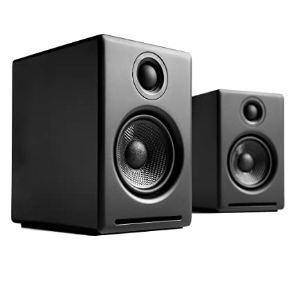 Amazon Audioengine A2 Black Pr 2 Way Powered Speaker System Computers Accessories