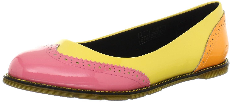 Dr. Martens Women's Ceri Brouge Pump B0091CNYYM 5 UK/7 M US|Pink/Yellow/Orange