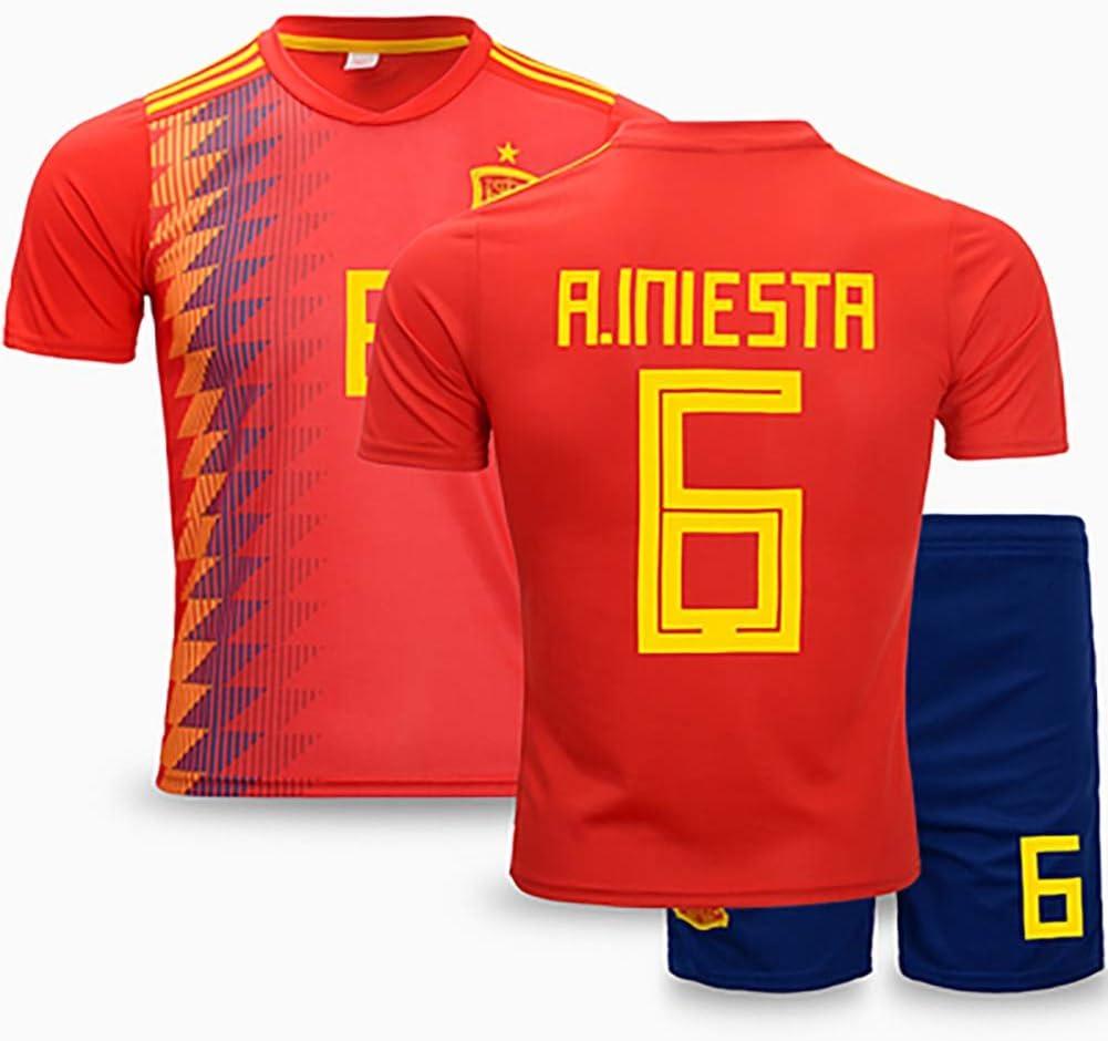 ZZRS Camiseta de fútbol y Pantalones Cortos, Ropa de Entrenamiento de fútbol Traje (# 6 y # 8): Amazon.es: Deportes y aire libre