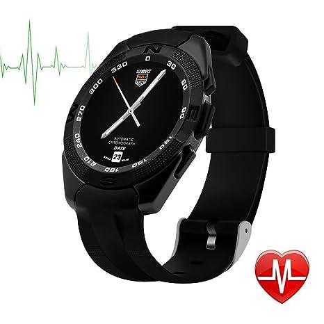 TechCommYang Reloj Deportivo Mujer, Podómetro Música Bluetooth Monitoreo Del Sueño Prueba Del Ritmo Cardíaco Recordatorio