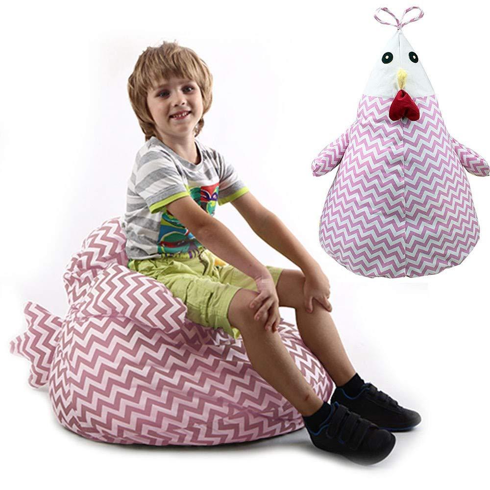 Taylor Gre Large Stuffed Animal Storage Chicken Bag Chair,Unisex, Multipurpose Storage, Perfect Decorative Kid's Room