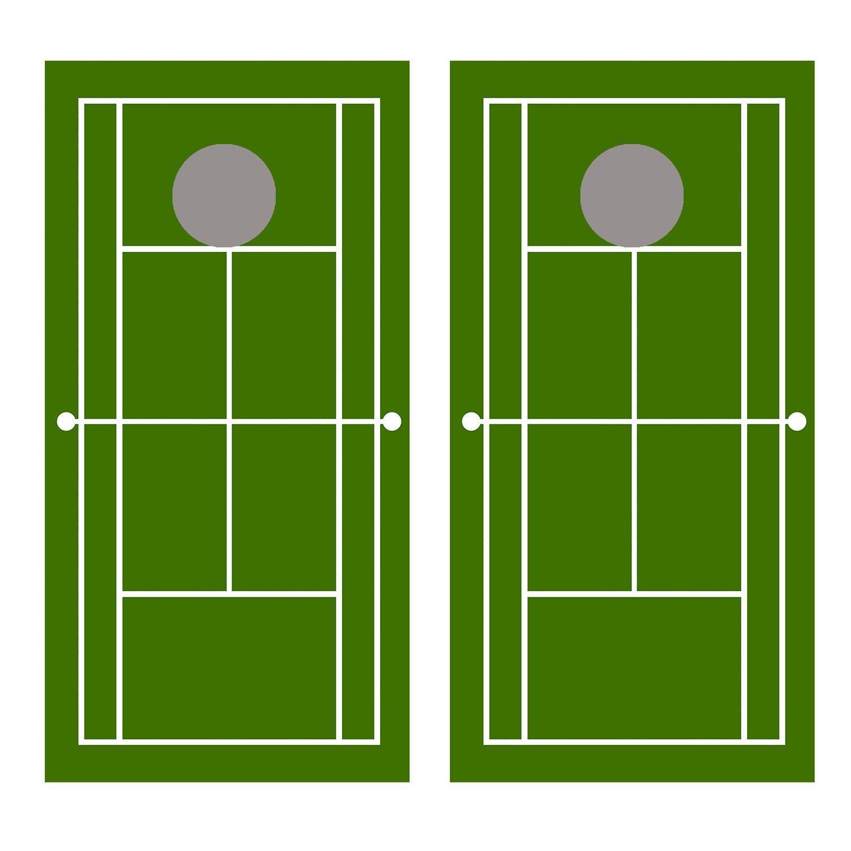 新品本物 Let's Print Let's Big Tennis Court Print コーンホールボードデカールラップ Tennis B07J9NRQ1R, 岐阜県池田町:e46680ad --- beyonddefeat.com