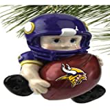 NFL Minnesota Vikings Lil Player Christmas Ornament, Small, Multicolored