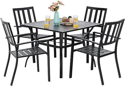 PHI VILLA 5 Piece Outdoor Patio Dining Set