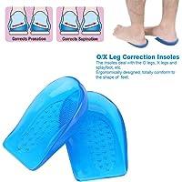 TECHVIDA Plantillas Talón de Gel 2Par Corrector de pie O/X Forma Ortótica Arco Zapatos de Soporte Insertar Almohadillas Copa de talón