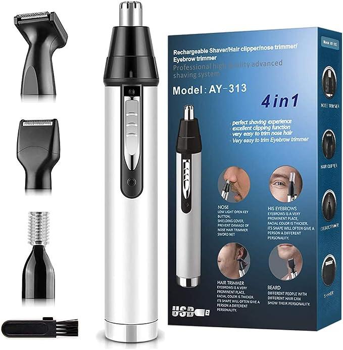 Cleanfly Nose Hair Trimmer for Men 2020 Upgrade - Fantastic 4-in1 Trimmer