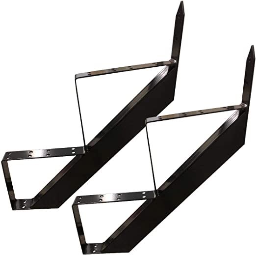 2 escaleras marco de acero escalera escalera escalera escalera escalera altura 34 cm Negro/Ideal para uso en interiores y exteriores: Amazon.es: Bricolaje y herramientas