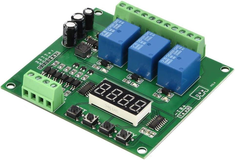 M/ódulo de rel/é YWBL-WH m/ódulo de control de rel/é programable de 3 canales Retardo de activaci/ón//Temporizador//Interruptor de enclavamiento autom/ático//interbloqueo