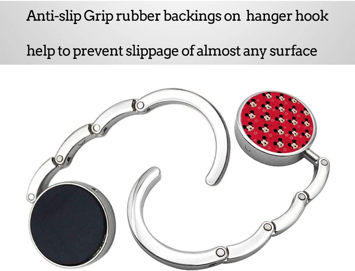 NOT Mickey Mouse Foldable Purse Hook Holder Bag Hanger Hook for Table Handbag Storage