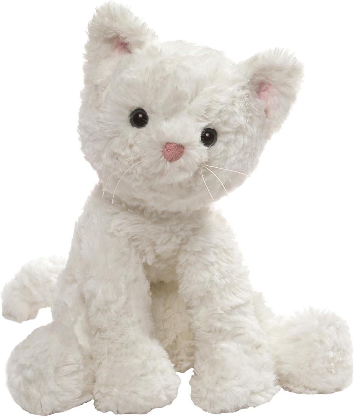 "GUND Cozys Collection Cat Stuffed Animal Plush, White, 8"""