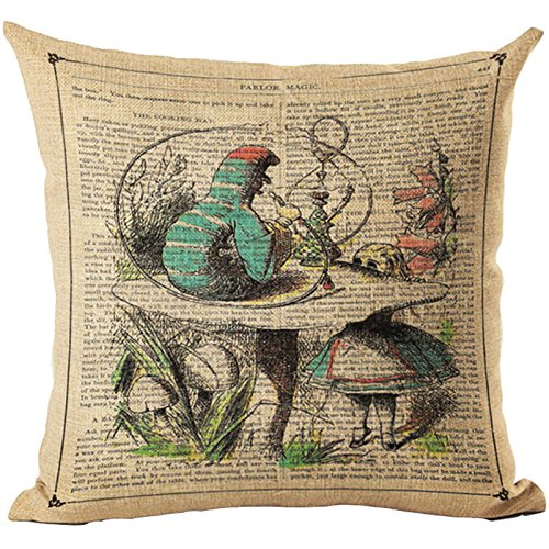 bluelan funda de cojín Vintage ilustración cojín conejo ...