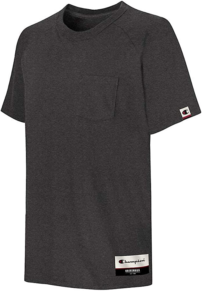 Champion Mens Authentic Originals Soft Wash Short Sleeve Pocket Tee Shirt
